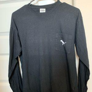 PINK Victoria's Secret Black Long Sleeve T-Shirt